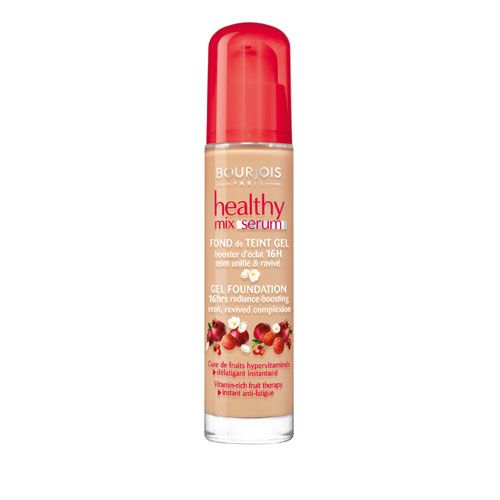 a healthy glow without the shine...never thought it was possible, but presto!  Blows away more expensive foundations...