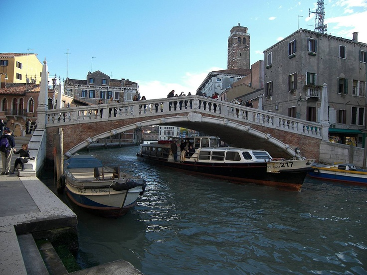Venice- The Guglie Bridge, In Cannaregio Where I Sat With Coffee Watching All The Boats In The Morning <3