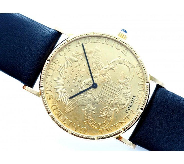 CORUM HERREN ARMBAND UHR / 20 USA DOLLAR / 750 GOLD | deta-schmuck.de