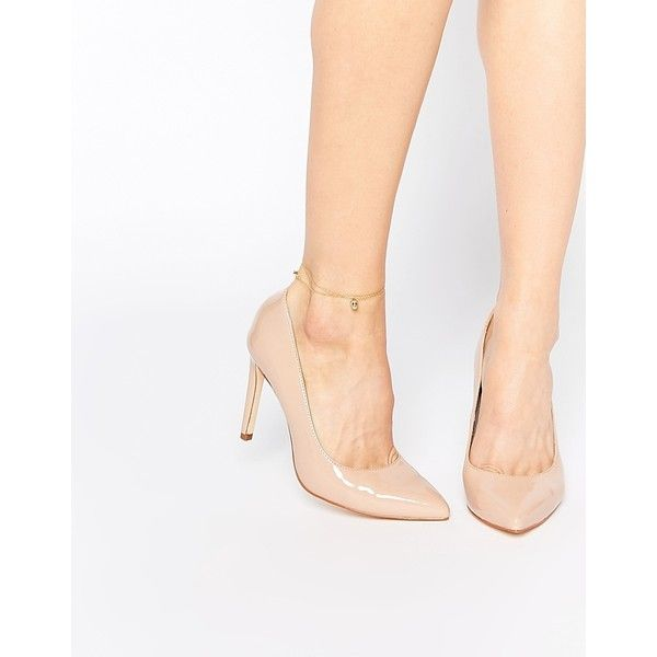 Faith Carey Nude Patent Court Shoes ($62) ❤ liked on Polyvore featuring shoes, pumps, nude, pointy-toe pumps, nude patent leather pumps, pointed-toe pumps, high heel shoes and beige pointed toe pumps