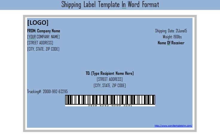 Get Shipping Label Template In Word Format – Shipping Label Templates