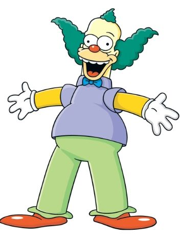 Simpson Clown  KRUSTY !!!!!!!!!!!!!!!!!!!!