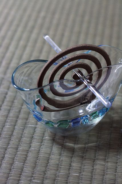 Japanese Mosquito Coil-Really pretty and refreshing in a glass bowl