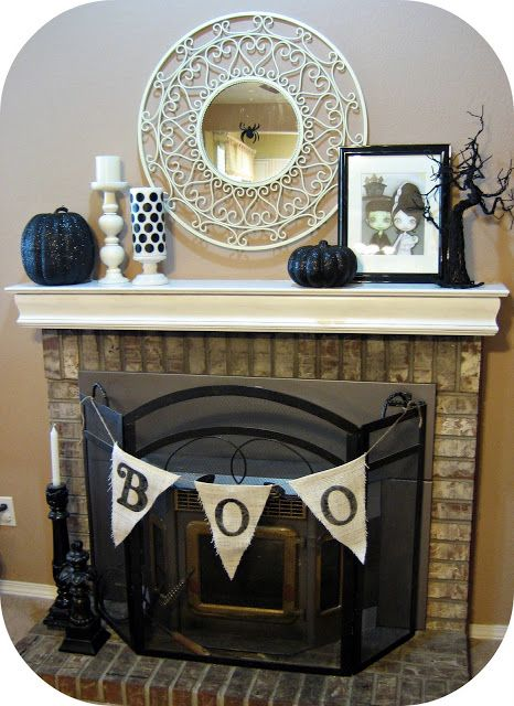 halloween mantle ideas - Halloween Mantel Ideas