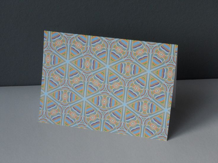 GEOMETRIC COLOUR greeting card
