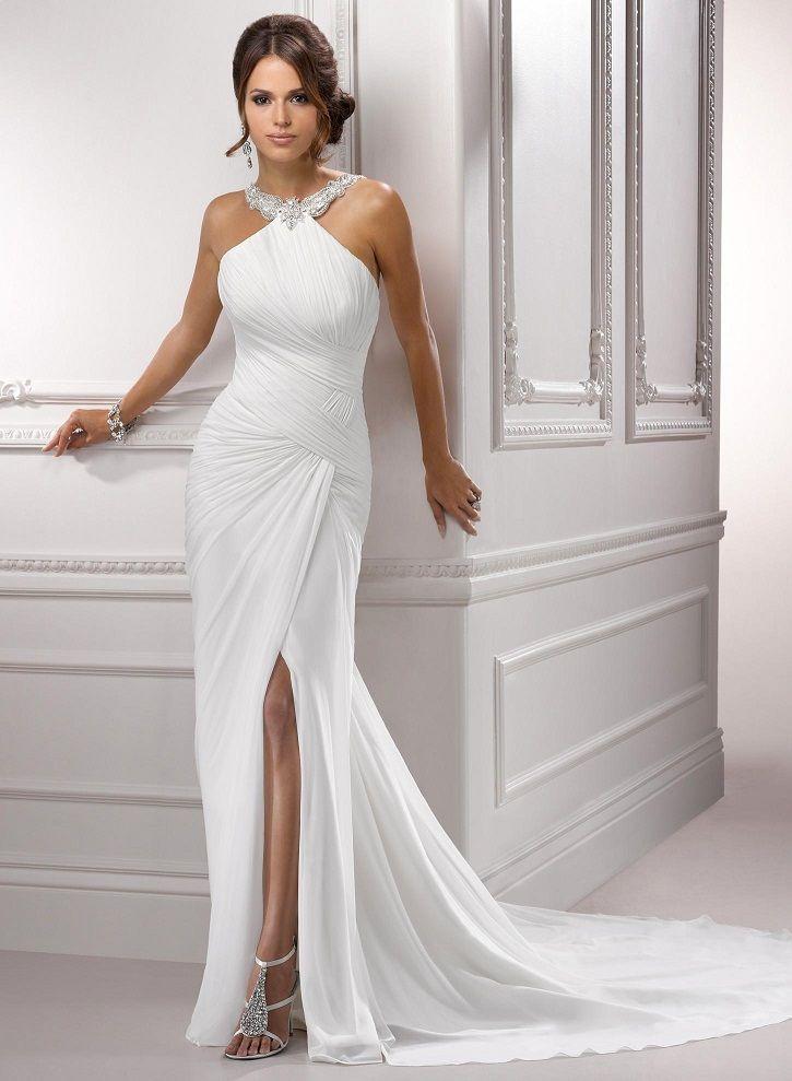 Best 25 halter wedding dresses ideas on pinterest for Custom wedding dress near me