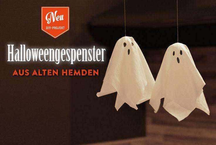 DIY: süße Halloween-Gespenster aus alten Hemden