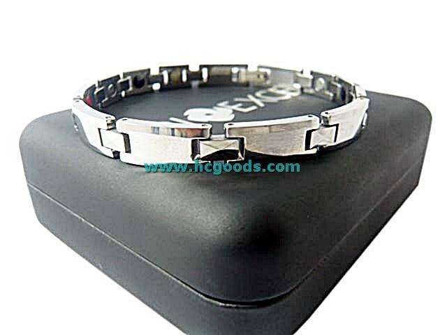 Quantum & Tungsten Bracelets - Tungsten Bracelet - Silver Plain Tab Design (Men/Women)