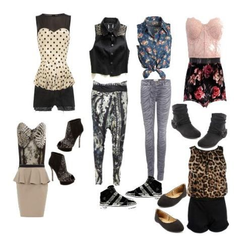 party rock outfits for teenage girls with swag