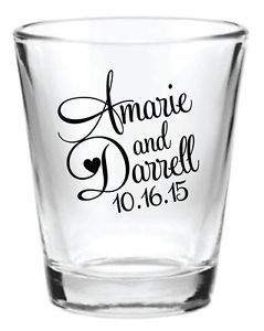shot glas wedding souvenirs | Specialty Services > Printing & Personalization > Glasses & Mugs