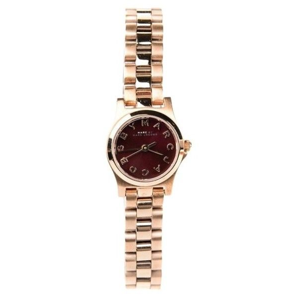 Pre-owned Marc by Marc Jacobs MBM3256 Maroon Rose Gold Womens Watch (4.475 RUB) ❤ liked on Polyvore featuring jewelry, watches, pre owned watches, red gold watches, pre owned jewelry, preowned watches and preowned jewelry