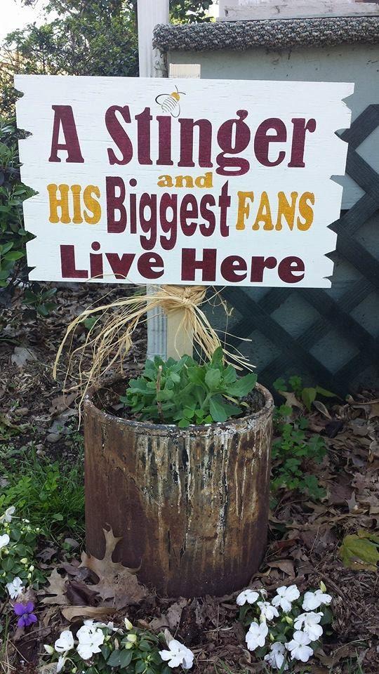 School yard sign, school spirit lawn sign, yard sign, spirit sign,wood garden stake,school sign,lawn sign,fan lives here sign on Etsy, $24.99