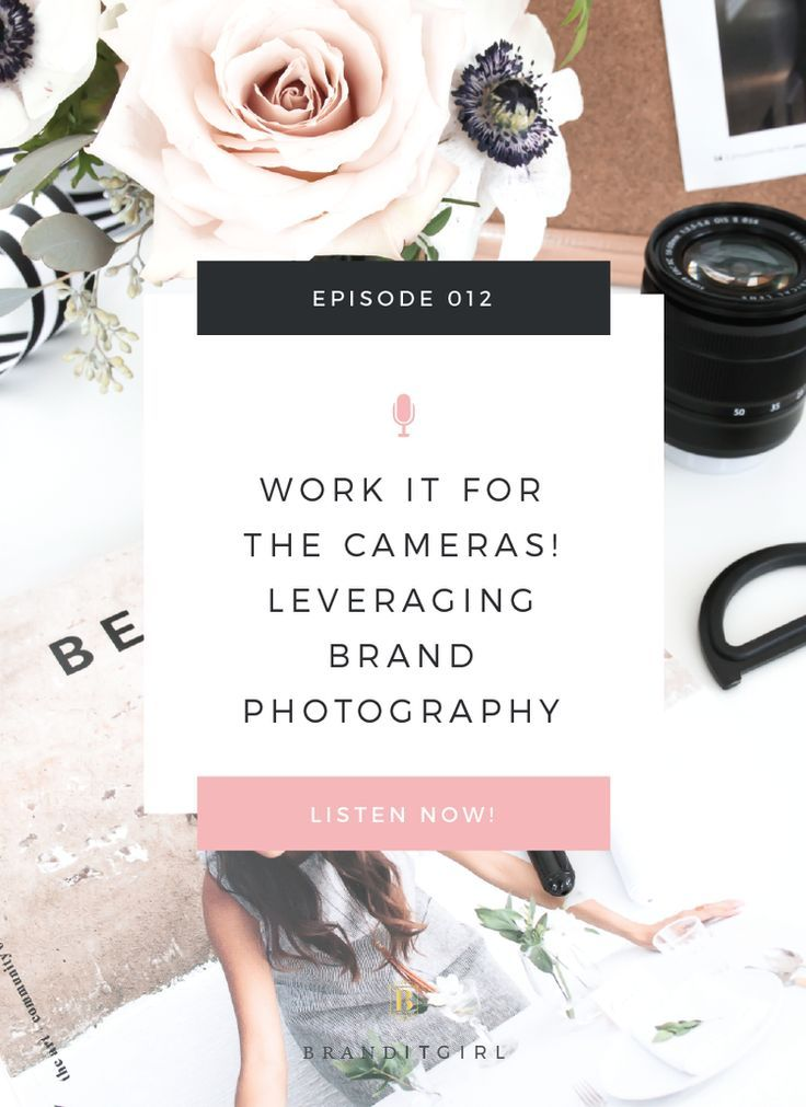 Learn all about Leveraging Brand Photography in your business or blog. We talk about why brand photos are so important to your business and how they can help you make money, build brand awareness and scale up your business! This is episode 12 of the Brand It Girl Podcast with Sam Bell. We also have a freebie ;) Photoshoot Booking Checklist, so click through to grab it for your next (or first) photoshoot!