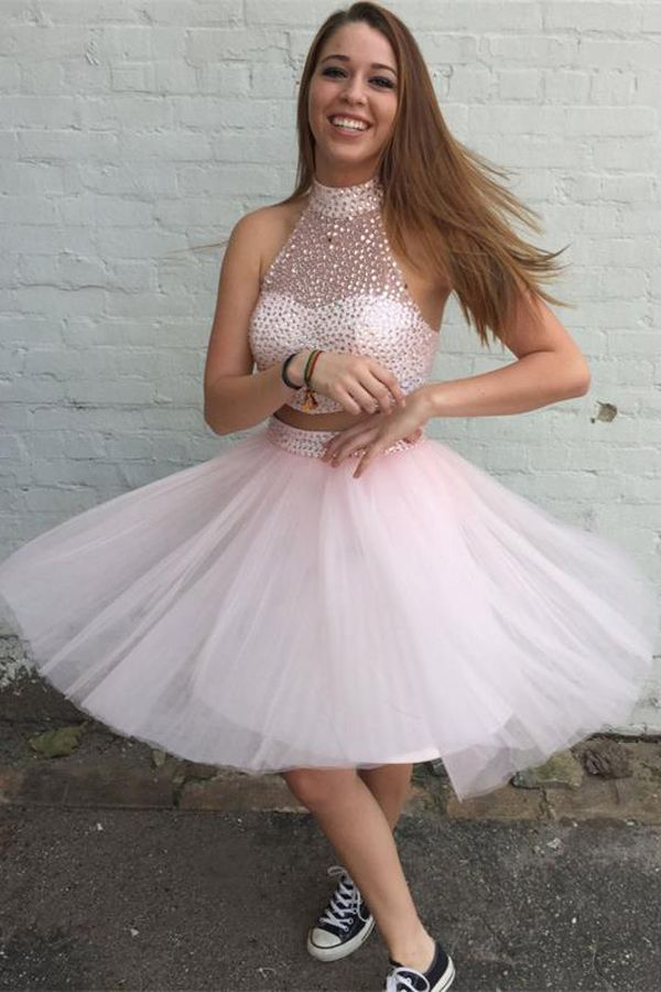 Two Pieces Pretty Homecoming Dress,Sexy Party Dress,Charming Homecoming…