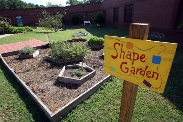 Teacher Karen Vogelsang headed up Keystone Elementary School's Outdoor Classroom project three years ago and puts in many hours working in the garden. 'Some people will look at this and think we must be crazy, but when you see the enthusiasm of the kids being involved in this, they absolutely love it,' Vogelsang says.
