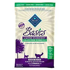 BLUE Basics® Limited Ingredient Grain Free Turkey & Potato Indoor Senior Cat Food