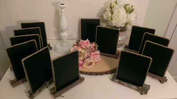 4 inch x 6 inch framed chalkboard rustic wedding table number burlap wedding table decor set of 12 on Etsy, $75.00