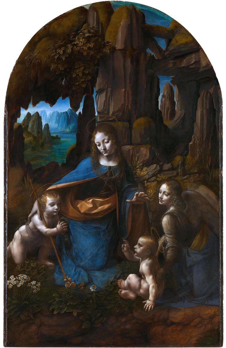 Vergine delle Rocce AutoreLeonardo da Vinci Data1494-1499 poi 1506-1508 circa Tecnicaolio su tavola Dimensioni189,5 cm × 120 cm  UbicazioneNational Gallery, Londra
