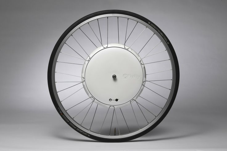 FlyKly SmartWheel This compact electric bike wheel gets recharged by coasting and goes up to 20mph