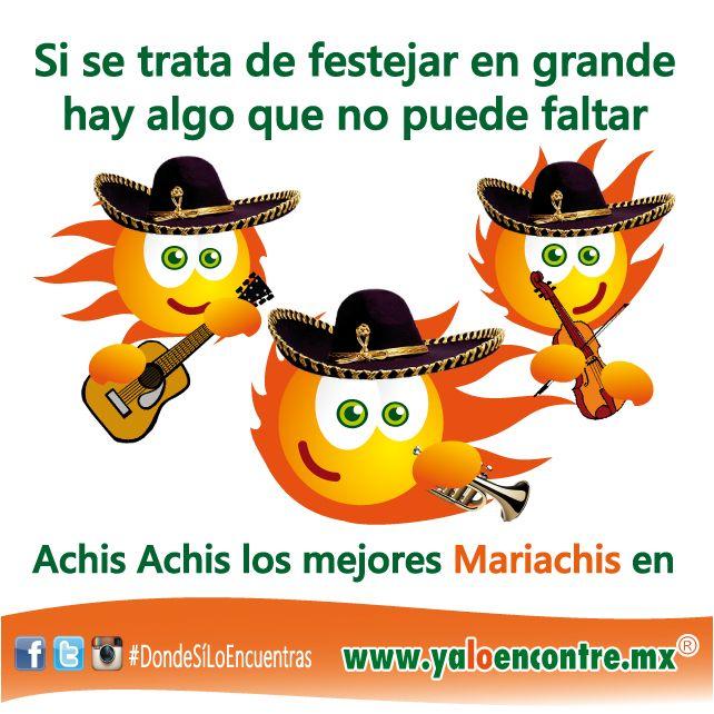 #Servicios #Mariachis Festeja en Grande, Entra a: www.yaloencontre.mx
