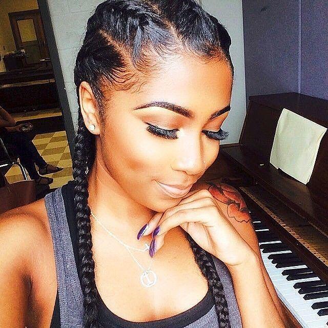 Incredible 1000 Ideas About 2 Cornrow Braids On Pinterest Cornrow Ghana Hairstyles For Women Draintrainus
