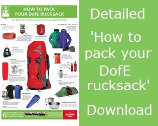 Rucksacks and waterproof packing | The Duke of Edinburgh's Award (DofE) Shopping