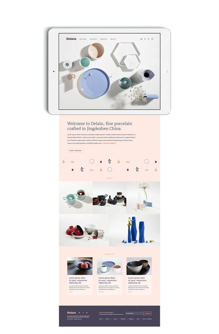 Delain Porcelain Branding on Behance