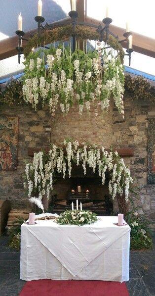 Barberstown Castle, Kildare, Ireland. Flowers created by Barbara Jimazen Flowers.