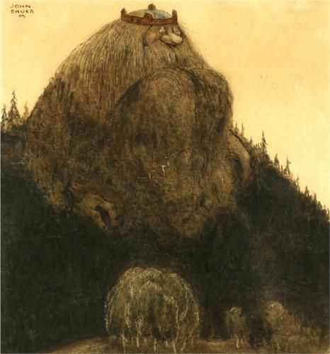 """""""King of the Hill"""" John Bauer                                                                                                                                                                                 More"""