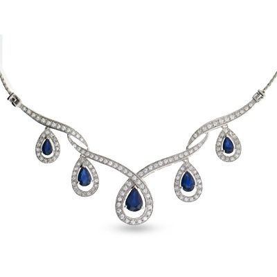 333 Best Images About Sapphire Necklaces On Pinterest