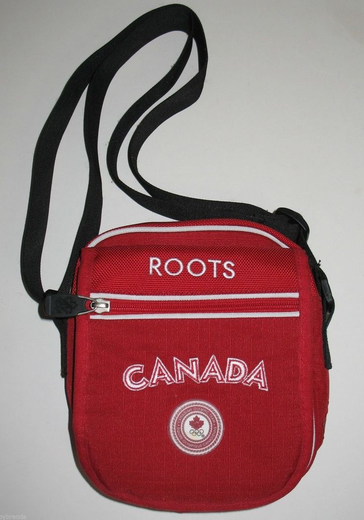 Small Red Roots Canada Olympic Team Canvas Bag Handbag Purse Canadian #ck15