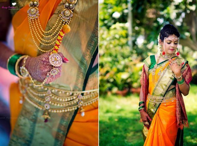ethnic maharashtrian wedding bridal look details- BollwyoodShaadis