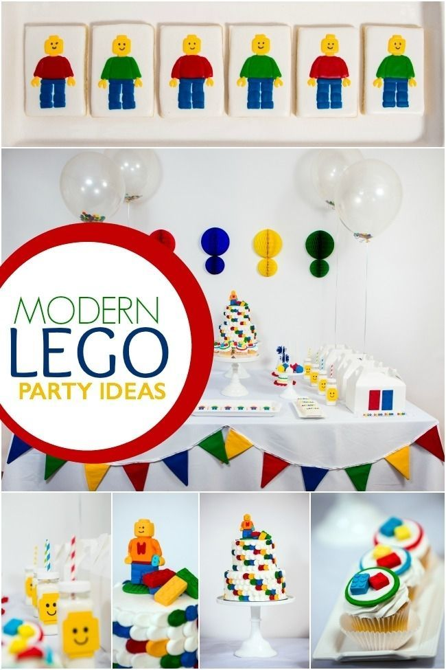 Modern Lego Birthday Party Idea for Boys