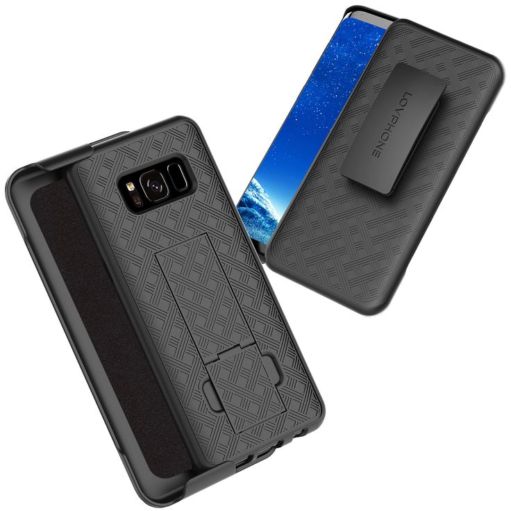 Samsung Galaxy S8 Holster Case, LOVPHONE Secure Holster Shell & Kickstand Combo 180° Degree Rotating Locking Swivel + Shockproof Protection Case (Black). Lovphone Secure Shell Case designed for Samsung Galaxy S8,Easy access to your iPhone without removing the phone from the case. The Rubberized texture makes gripping your phone easy and will also Secure your Phones protection. The Holster clip has a swivel locking mechanism to keep your phone and place, Rear of the case has a built in...