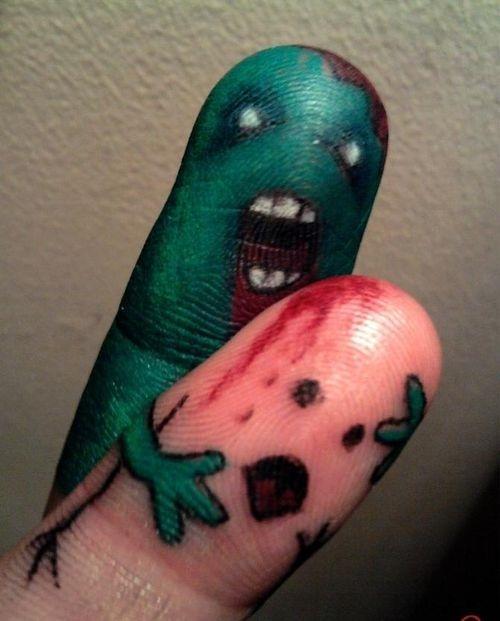 Ahhhh! It's the Evil Index Finger!