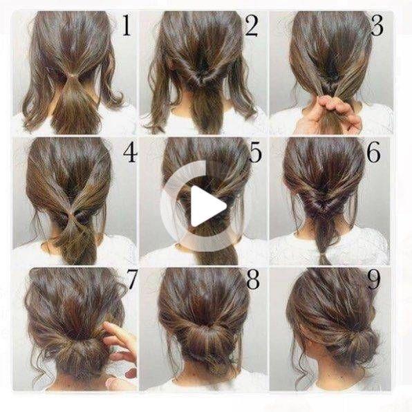 25 Easy Up Kapsels Voor Kort Haar Easy Up Kapsels Voor Kort Haar Van Top 10 Slordige Updo T In 2020 Up Dos For Medium Hair Thick Hair Styles Easy Updos For Medium Hair