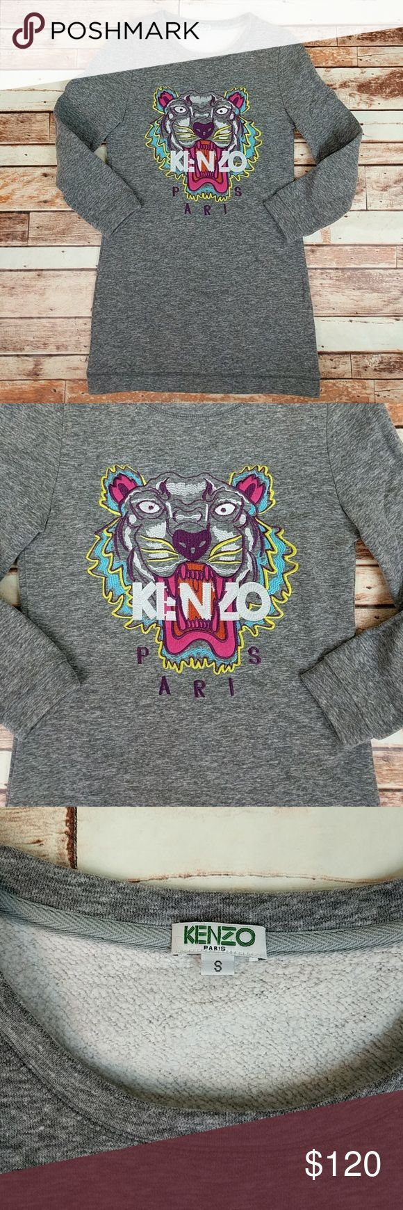 Kenzo Sweatshirt Dress Great Condition Kenzo Paris Sweatshirt Dress Size Small. Signature Tiger Print On Front. Soft Fleece Lined Material Inside. Make An Offer! Kenzo Dresses