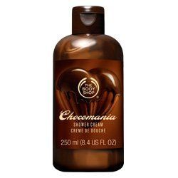The Body Shop Shower Cream, New Chocomania, 8.4 Fluid Ounce by The Body Shop. $4.49. Best for normal skin type. Provide maximum moisture to your skin. Soap free product. Our pearlescent chocomania shower cream contains real cocoa butter and has a decant chocolately scent. It is soap-free and won't dry out your skin. Our chocomania shower cream contains community fair trade cocoa butter and organic honey. Cocoa butter is an excellent moisturizer which melts at body tempera...