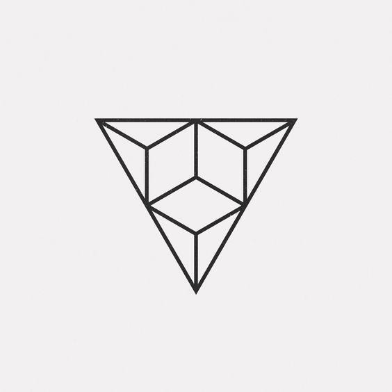 A new geometric design every day . Triangles . Minimal: