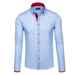Pánská stylová košile - Fredrick, modrá se vzorem | TAXIDO fashion