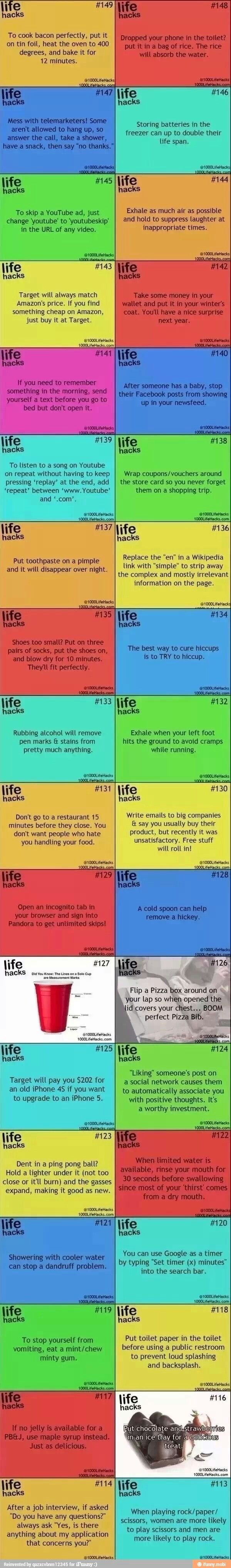 Useful life hacks                                                                                                                                                                                 More