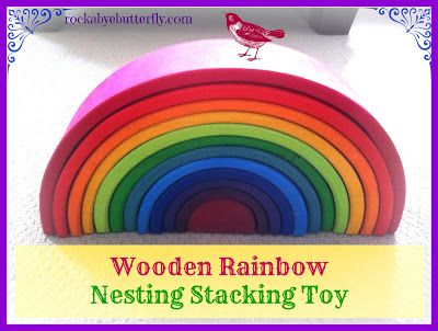 All the things you can do with this beautiful toy, a Wooden Rainbow