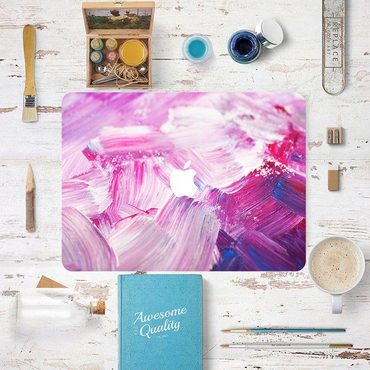 Macbook Decal Sticker - Purple Pink Painting