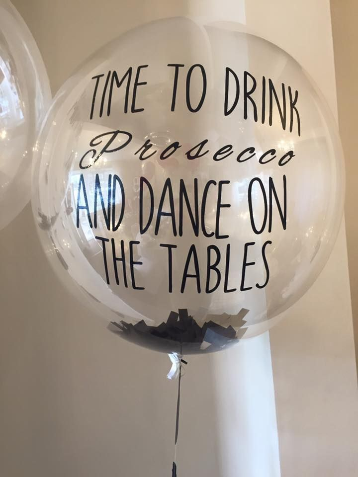 Prosecco confetti balloon 9 best Confetti bubble