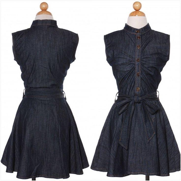 Sleeveless Denim Skaters Dress - The House of Stylez  - 2