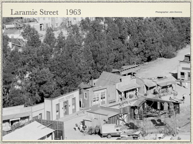1963 Laramie tv series set.