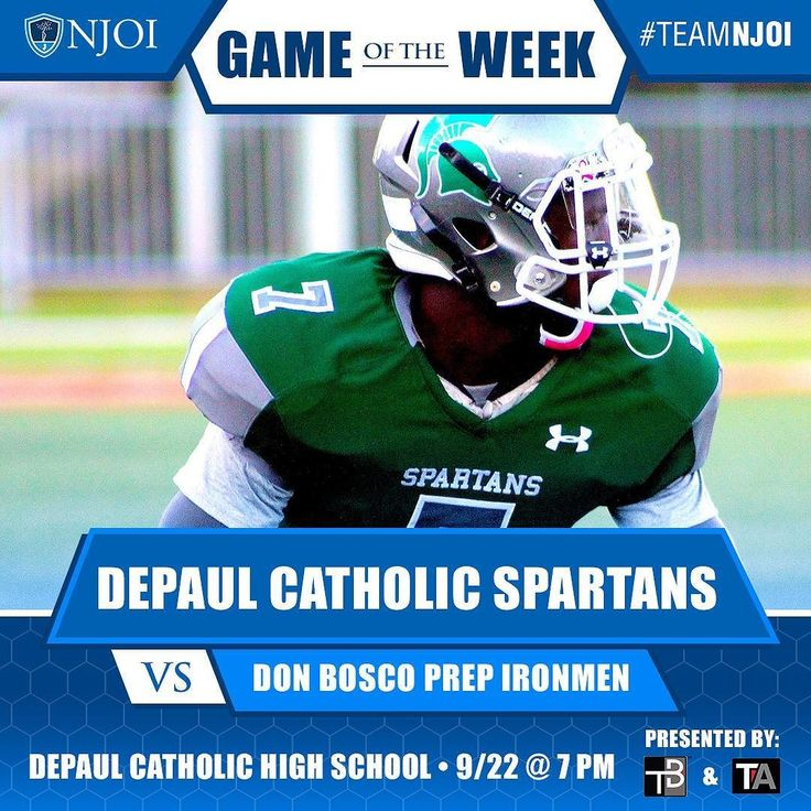 Big #matchup for our #GameOfTheWeek! #DePaul looks to pick up a HUGE #W vs. #DonBosco this evening. Well be there rooting on the #Spartans!
