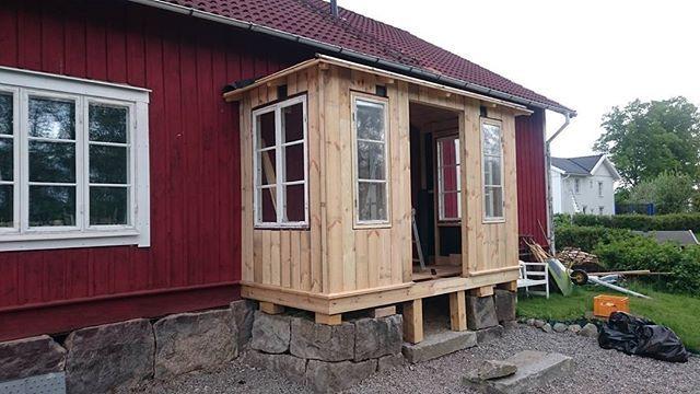 Nästa verandaprojekt är på god väg.