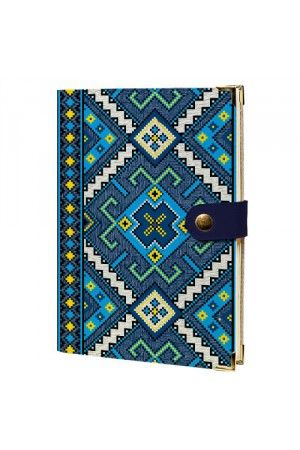 """Щоденник """"Блакитна вишиванка"""" на кнопці"""