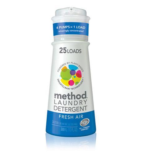 Method : method laundry detergent – 25 loads - pure, gentle, biodegradable